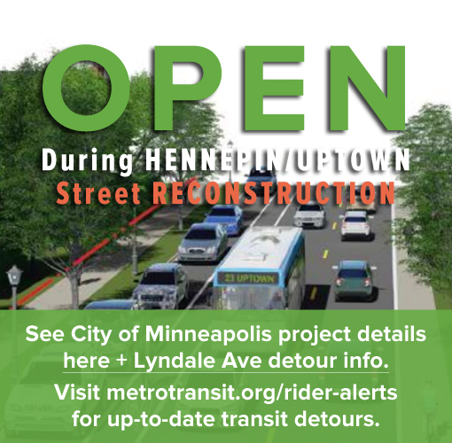 Perennial Cycle is open during the City of Minneapolis Hennepin Uptown Street Reconstruction