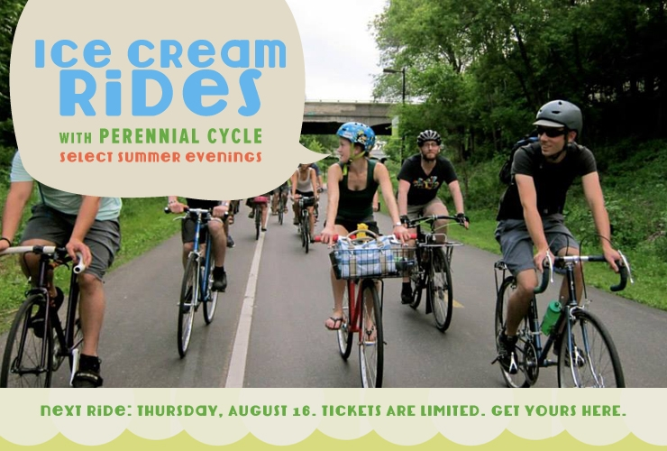family-friendly summer ice cream bike rides at Perennial Cycle in Minneapolis