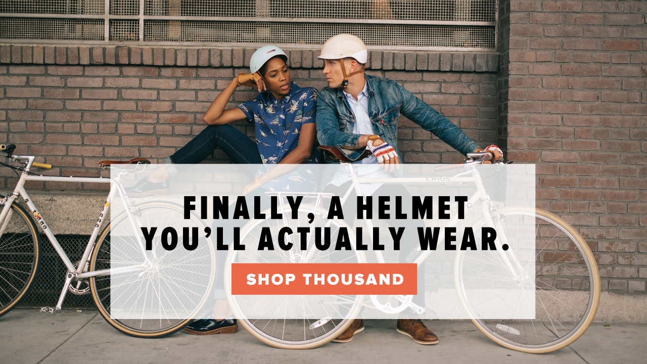 Thousand helmets and Linus Bikes available at Perennial Cycle in Minneapolis