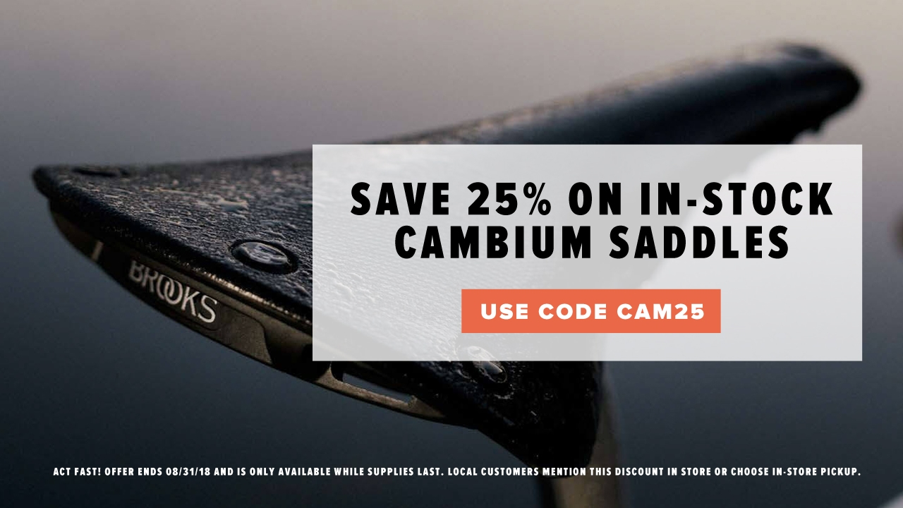 Save 25% on Brooks Cambium Saddles at Perennial Cycle in Minneapolis Minnesota