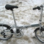 Folding Bike with Studded Tires