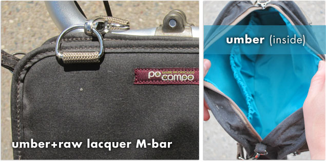 po campo umber wristlet mounted on a Brompton folding bike