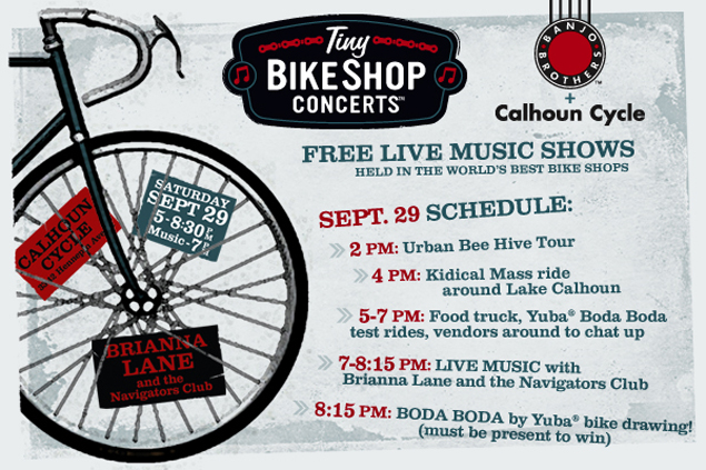 Tiny Bike Shop Concert with Brianna Lane and the Navigators Club