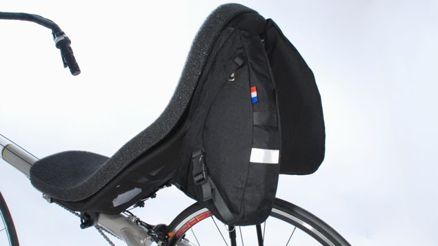 Radical Solo Racer Panniers on a Bacchetta Corsa with Euromesh Seat