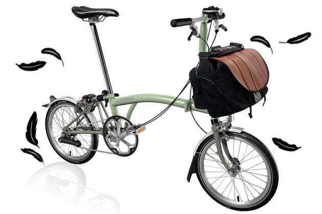 Brompton Superlight with S Bag with Hose Flap