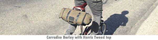 Carradice Barley Saddlebag w/Harris Tweed Top