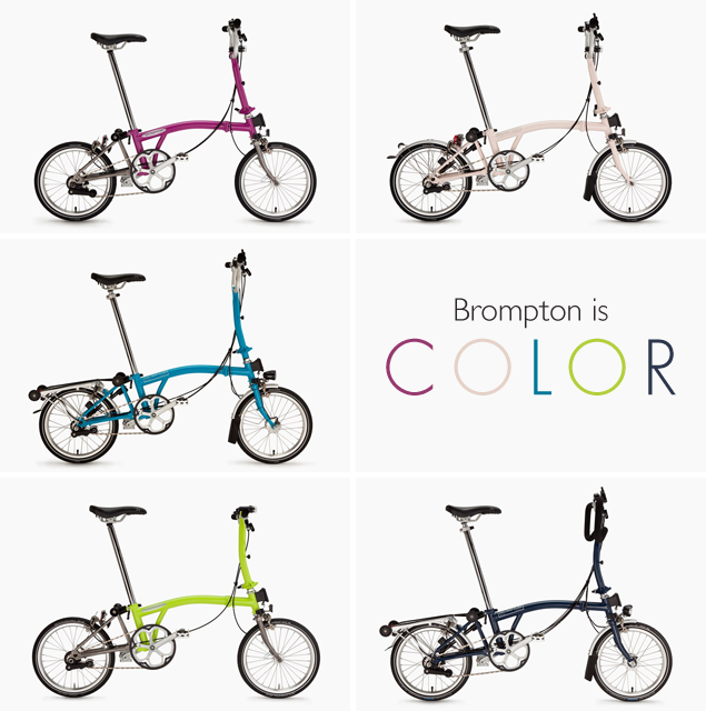 Calhoun Cycle is now taking orders for B-Spoke Brompton Folding Bikes in the new 2015 colors.
