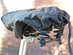 The Large Brooks Saddle Cover on a B67